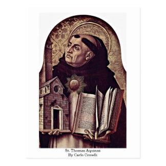 St. Thomas Aquinas By Carlo Crivelli Postcard