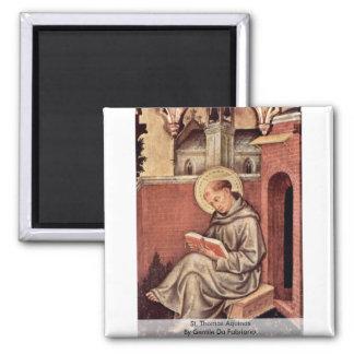 St. Thomas Aquinas By Gentile Da Fabriano Magnet