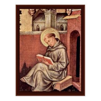 St. Thomas Aquinas By Gentile Da Fabriano Postcard