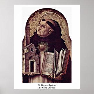 St Thomas Aquinas de Carlo Crivelli Póster