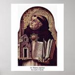 St Thomas Aquinas de Carlo Crivelli Posters