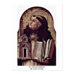St Thomas Aquinas de Carlo Crivelli Tarjeta Postal