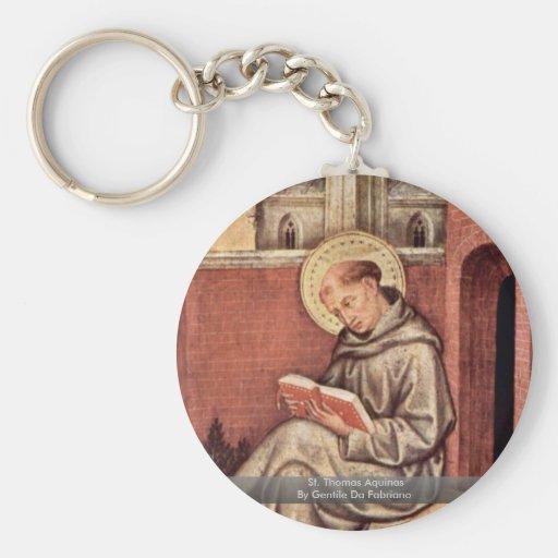 St Thomas Aquinas de Gentile da Fabriano Llavero