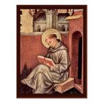 St Thomas Aquinas de Gentile da Fabriano Tarjetas Postales