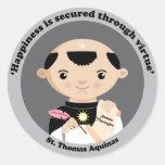 St Thomas Aquinas Etiqueta Redonda