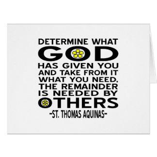 St. Thomas Aquinas God Given Card