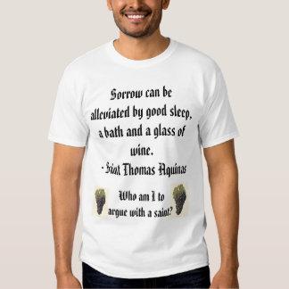 St Thomas  Aquinas on Wine T-shirt