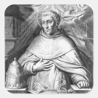 St Thomas Aquinas Pegatina Cuadrada