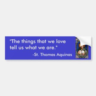 St Thomas Aquinas Pegatina Para Auto