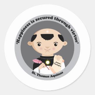 St Thomas Aquinas Pegatina Redonda