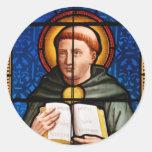 St Thomas Aquinas Pegatinas Redondas