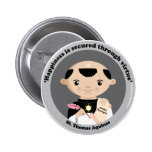 St. Thomas Aquinas Pinback Buttons