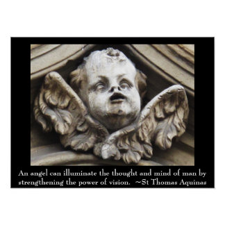 St Thomas Aquinas QUOTE about angels Poster