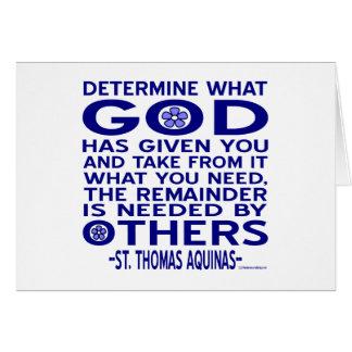 St. Thomas Aquinas Quote Card