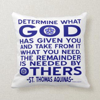 St. Thomas Aquinas Quote Pillow