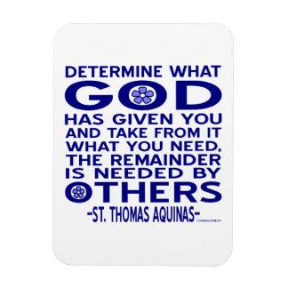 St. Thomas Aquinas Quote Rectangular Photo Magnet
