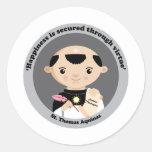 St. Thomas Aquinas Round Stickers
