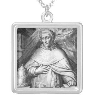 St. Thomas Aquinas Silver Plated Necklace