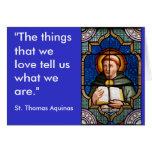 St Thomas Aquinas Tarjeta De Felicitación
