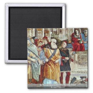 St Thomas Aquinas y el detalle de los herejes Imán Cuadrado