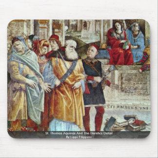 St Thomas Aquinas y el detalle de los herejes Alfombrilla De Raton