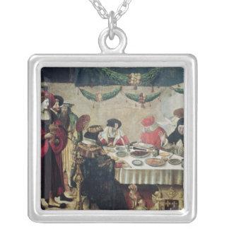 St Thomas Aquinas y Louis IX Collar Plateado