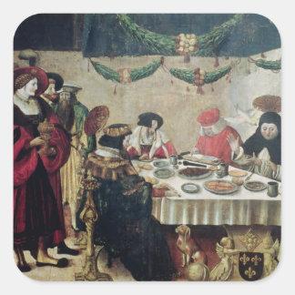 St Thomas Aquinas y Louis IX Pegatina Cuadrada