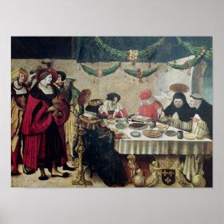 St Thomas Aquinas y Louis IX Póster