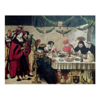 St Thomas Aquinas y Louis IX Tarjeta Postal