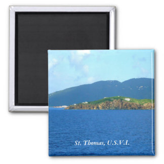 St. Thomas Arrival 2 Inch Square Magnet