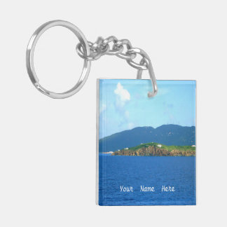 St. Thomas Arrival AKCP01 Personalized Double-Sided Square Acrylic Keychain