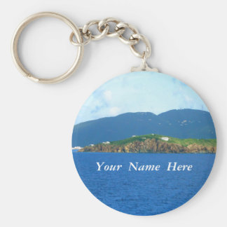 St. Thomas Arrival Personalized Keychain