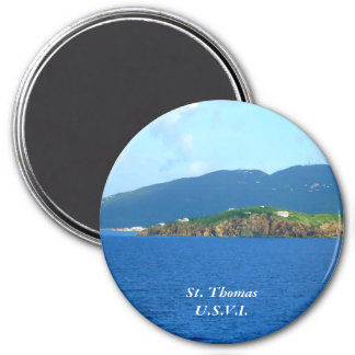 St. Thomas Arrival STA2 3 Inch Round Magnet