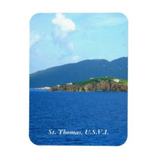 St. Thomas Arrival Vertical Rectangular Photo Magnet