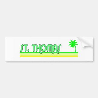 St. Thomas Car Bumper Sticker