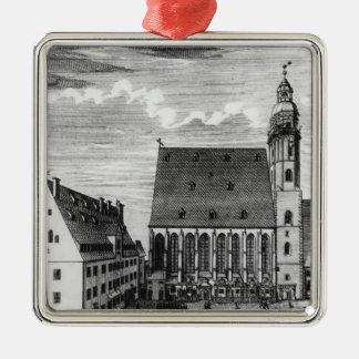 St. Thomas Church and School in Leipzig, 1723 Metal Ornament