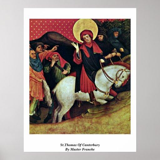 St Thomas de Cantorbery por Francke principal Impresiones