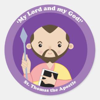 St Thomas el apóstol Pegatina Redonda