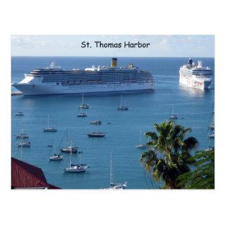 St. Thomas Harbor Postcard