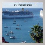 St.Thomas Harbor Poster