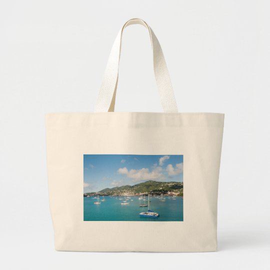 St. Thomas island Large Tote Bag