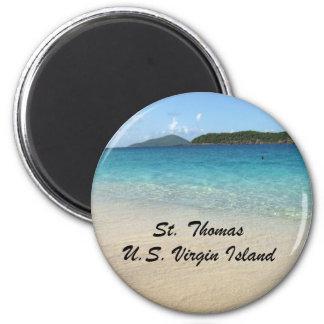 St Thomas, Islas Vírgenes de los E.E.U.U. Imán Redondo 5 Cm