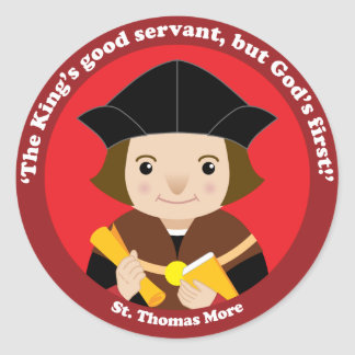 St Thomas más Pegatina Redonda