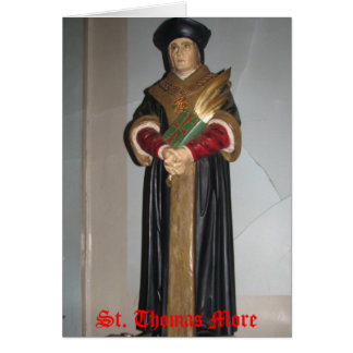 St. Thomas More card with prayer