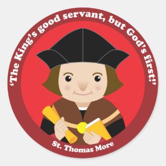 St. Thomas More Classic Round Sticker