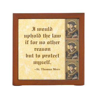 St. Thomas More (SAU 026) Famous Quote on Law Pencil Holder