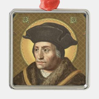 St. Thomas More (SAU 026) Premium Square Metal Ornament
