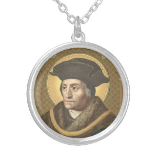 St. Thomas More (SAU 026) Silver Plated Necklace
