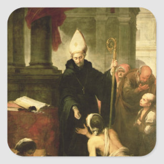 St. Thomas of Villanueva Distributing Alms, 1678 Square Sticker