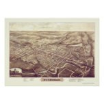 St. Thomas, ON, Canada Panoramic Map - 1896 Poster